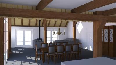 Renovatie Twentse Boerderij 3 3D